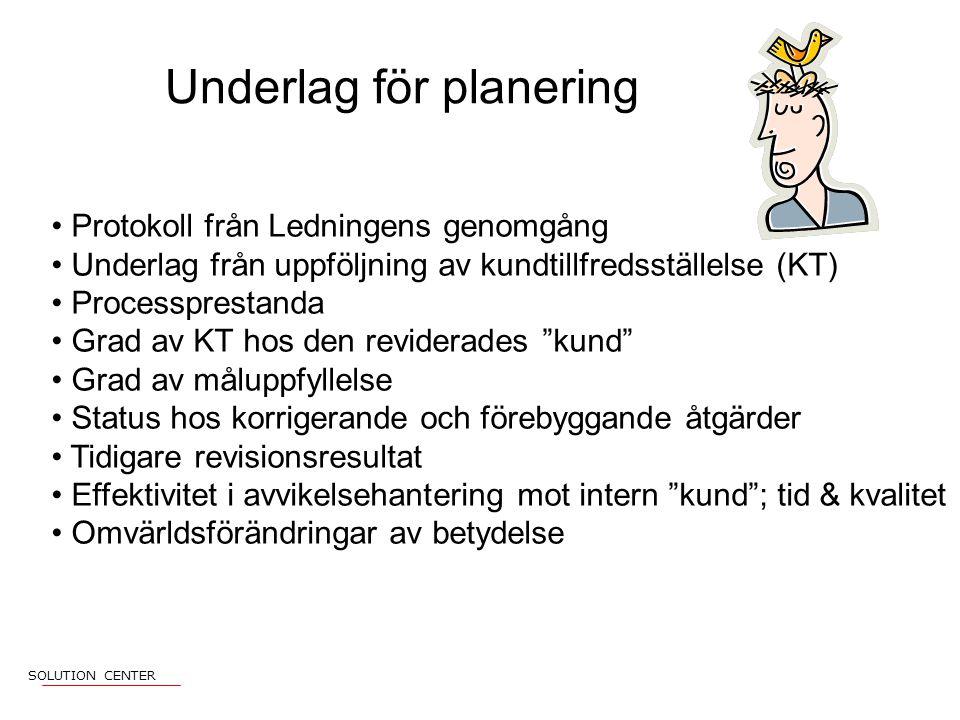 Underlag för planering