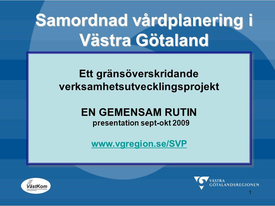 Samordnad vårdplanering i Västra Götaland