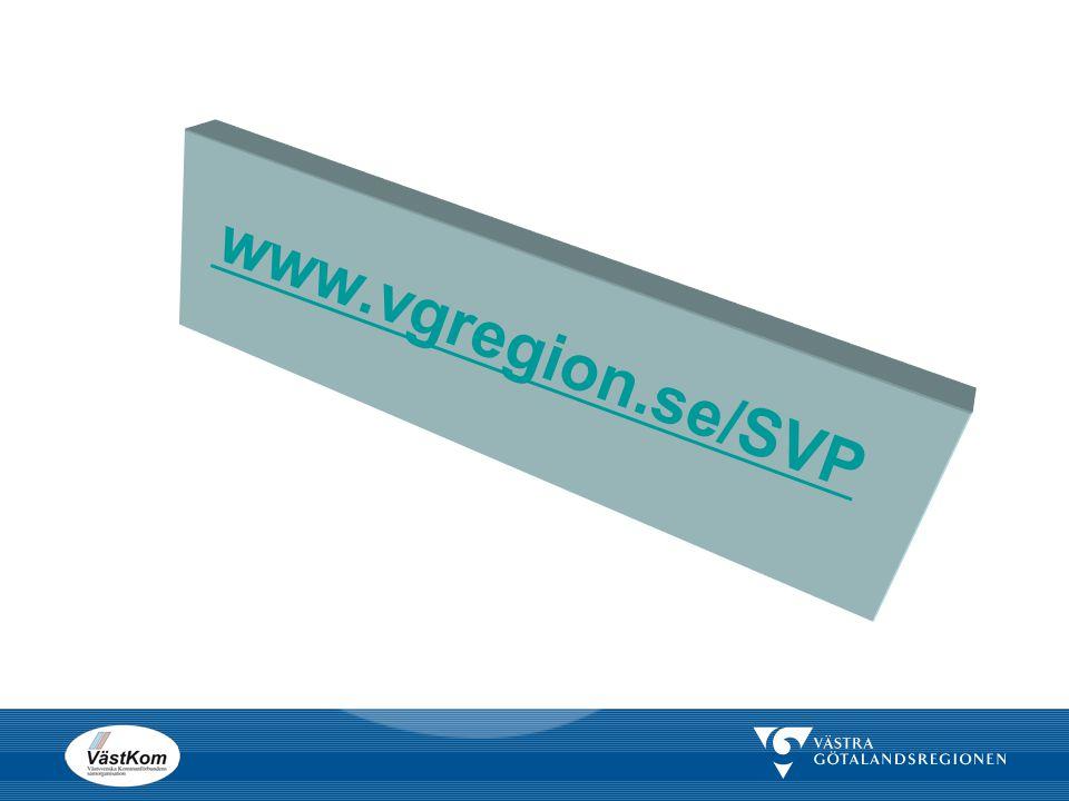 www.vgregion.se/SVP Denna hemsidan är centrala projektets hemsida där man kan hitta olika dokument som handlar om SVPL.