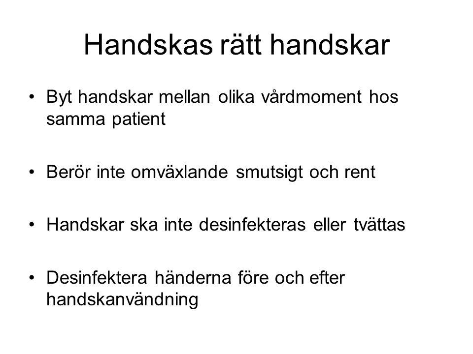 Handskas rätt handskar