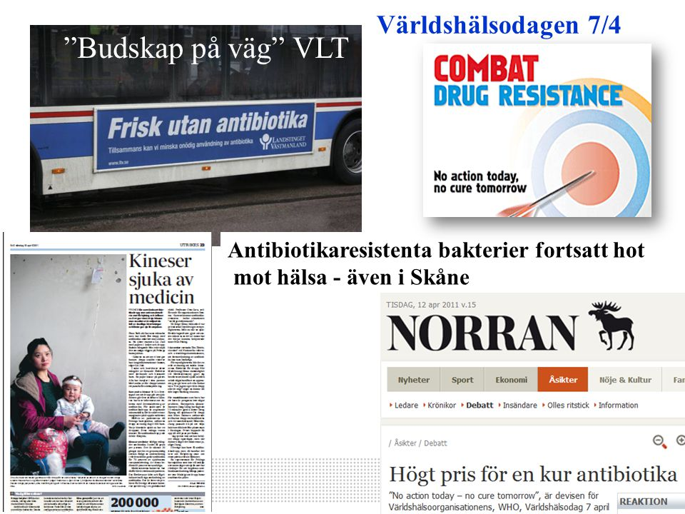 Budskap på väg VLT Världshälsodagen 7/4