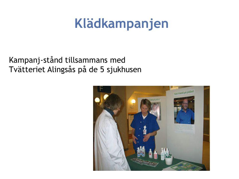 Klädkampanjen Kampanj-stånd tillsammans med Tvätteriet Alingsås på de 5 sjukhusen