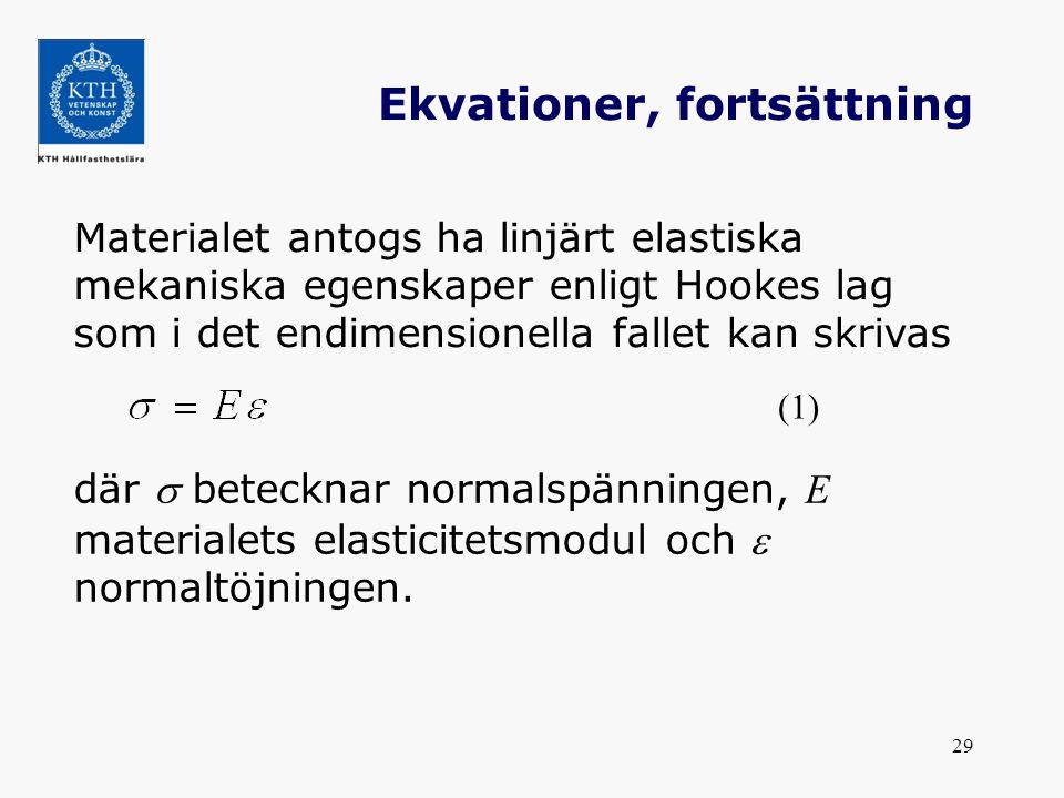 Ekvationer, fortsättning