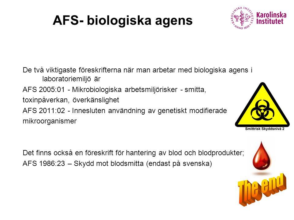 The end AFS- biologiska agens