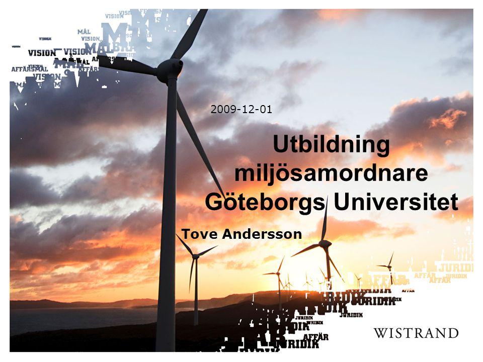 Utbildning miljösamordnare Göteborgs Universitet