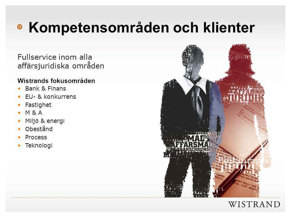 Kompetensområden och klienter