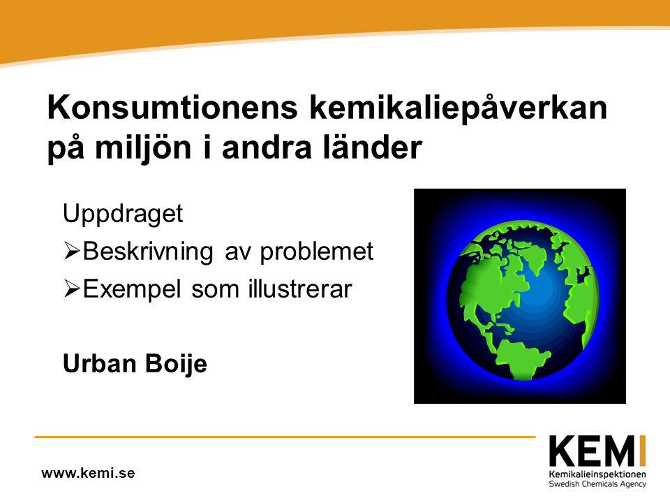Konsumtionens kemikaliepåverkan på miljön i andra länder