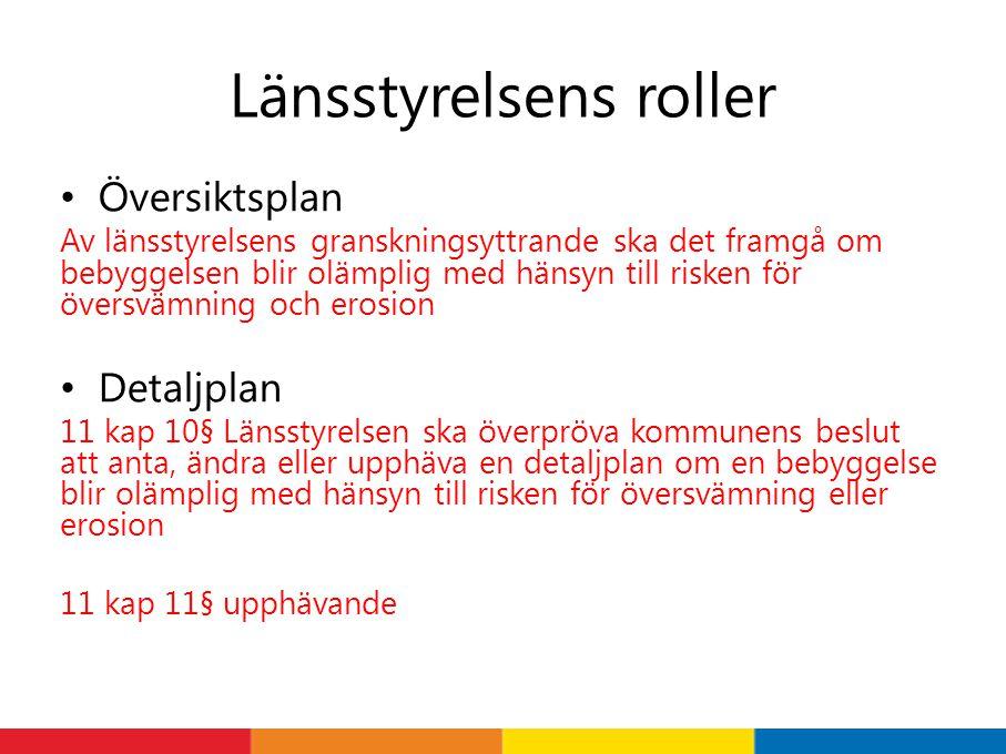 Länsstyrelsens roller