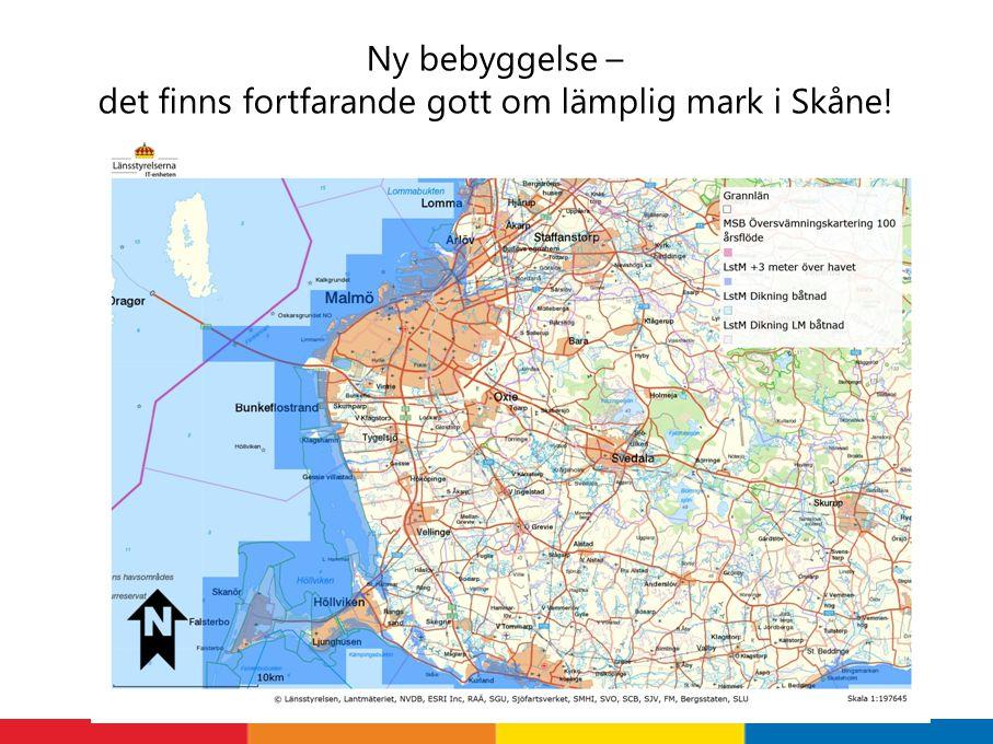Ny bebyggelse – det finns fortfarande gott om lämplig mark i Skåne!