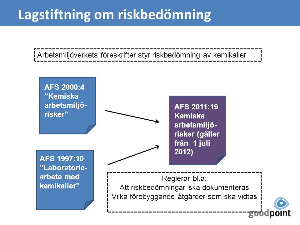 Lagstiftning om riskbedömning