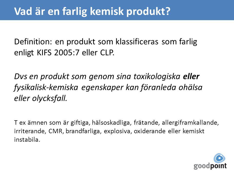 Vad är en farlig kemisk produkt