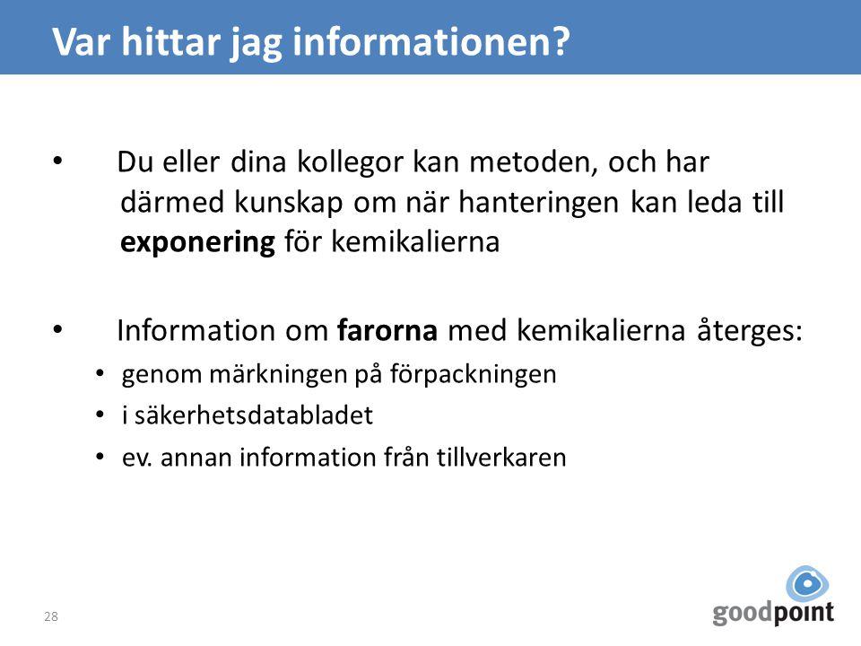 Var hittar jag informationen