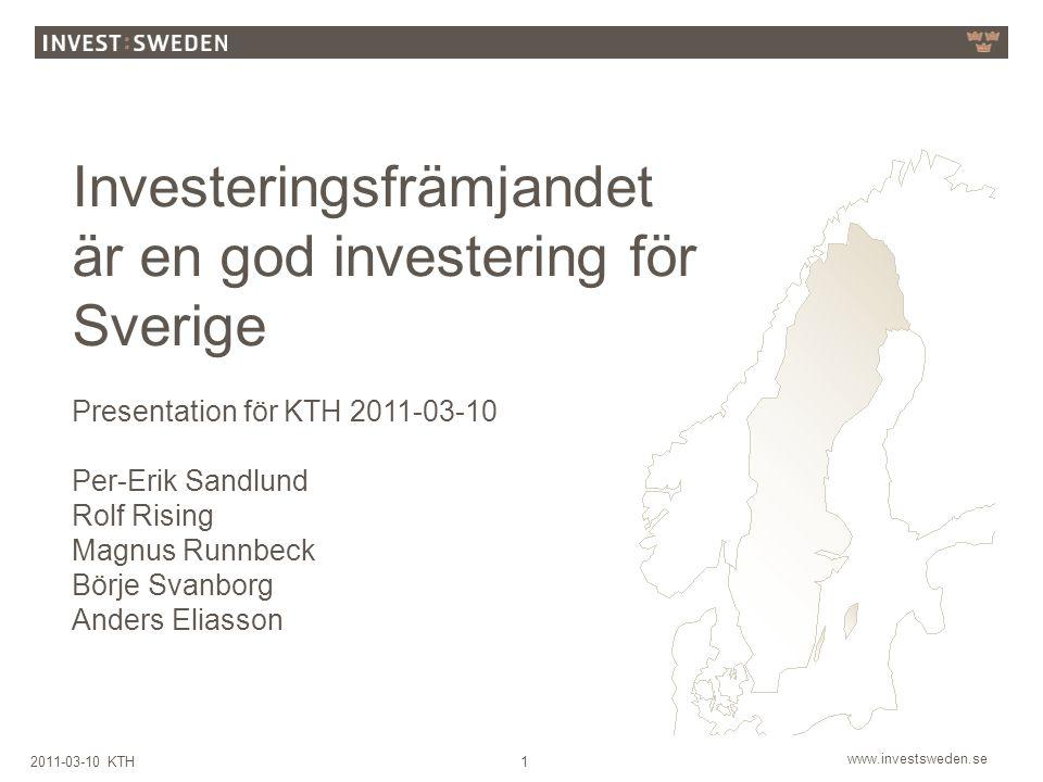 Investeringsfrämjandet är en god investering för Sverige