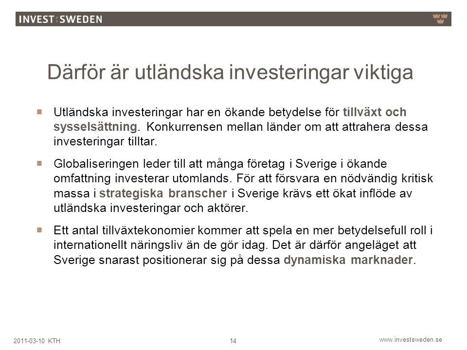 Därför är utländska investeringar viktiga