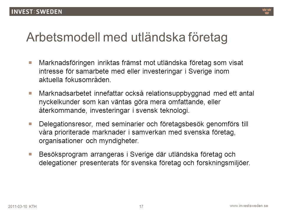 Arbetsmodell med utländska företag