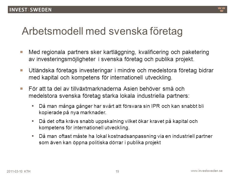 Arbetsmodell med svenska företag
