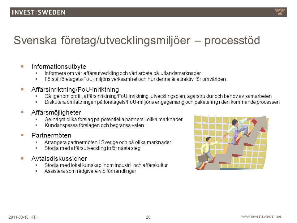 Svenska företag/utvecklingsmiljöer – processtöd