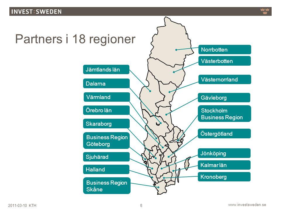 Partners i 18 regioner Norrbotten Västerbotten Jämtlands län
