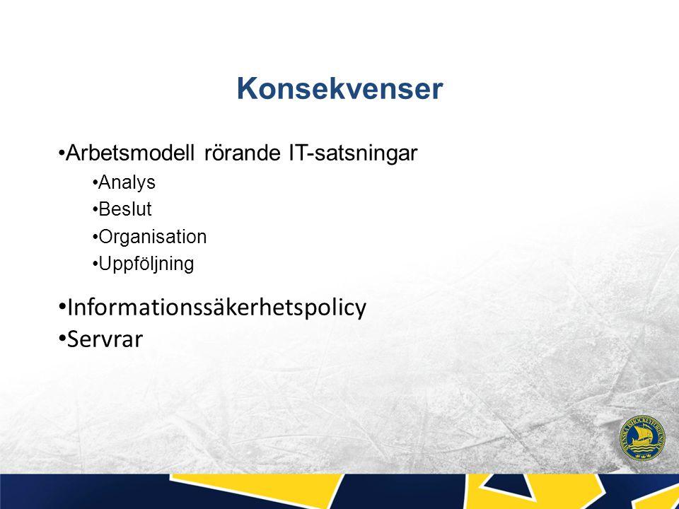 Konsekvenser Informationssäkerhetspolicy Servrar