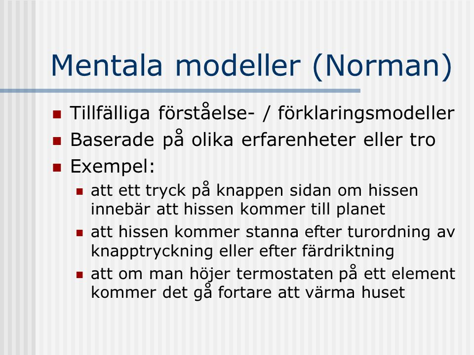 Mentala modeller (Norman)
