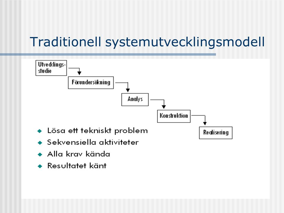 Traditionell systemutvecklingsmodell