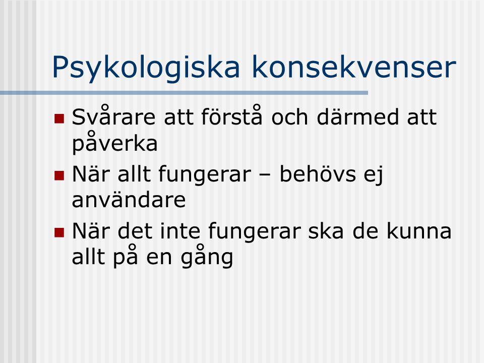 Psykologiska konsekvenser