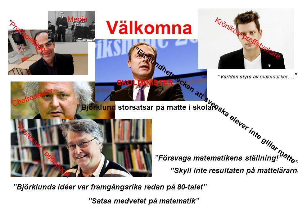 Välkomna Media Krönikör/ proffstyckare Proffspedagog