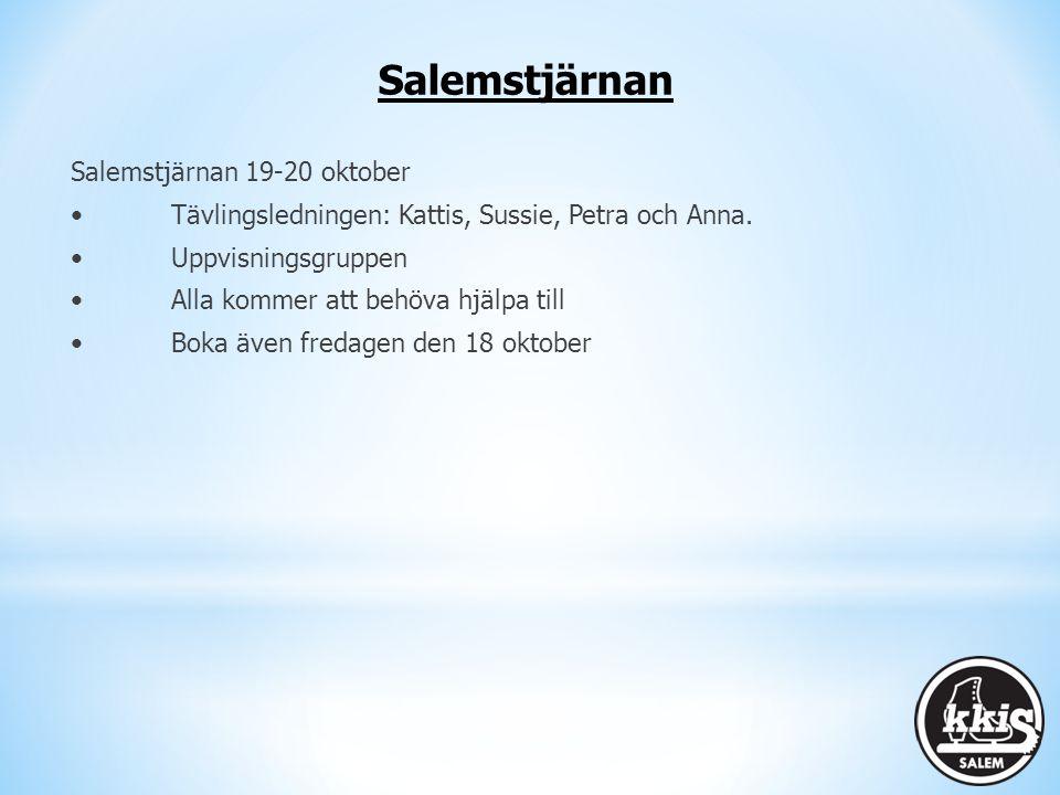 Salemstjärnan Salemstjärnan 19-20 oktober