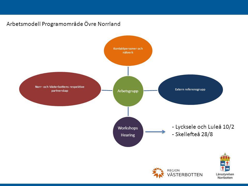 Arbetsmodell Programområde Övre Norrland