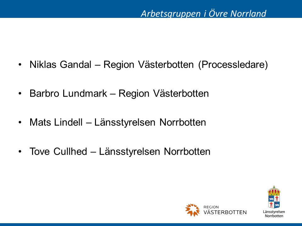 Arbetsgruppen i Övre Norrland