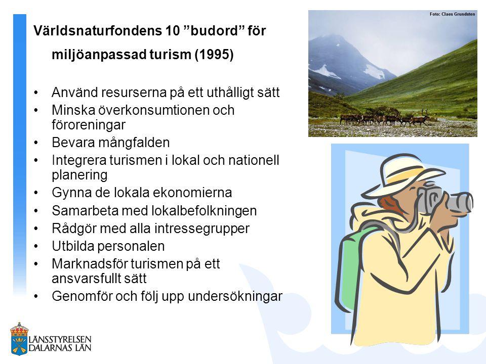 Världsnaturfondens 10 budord för miljöanpassad turism (1995)