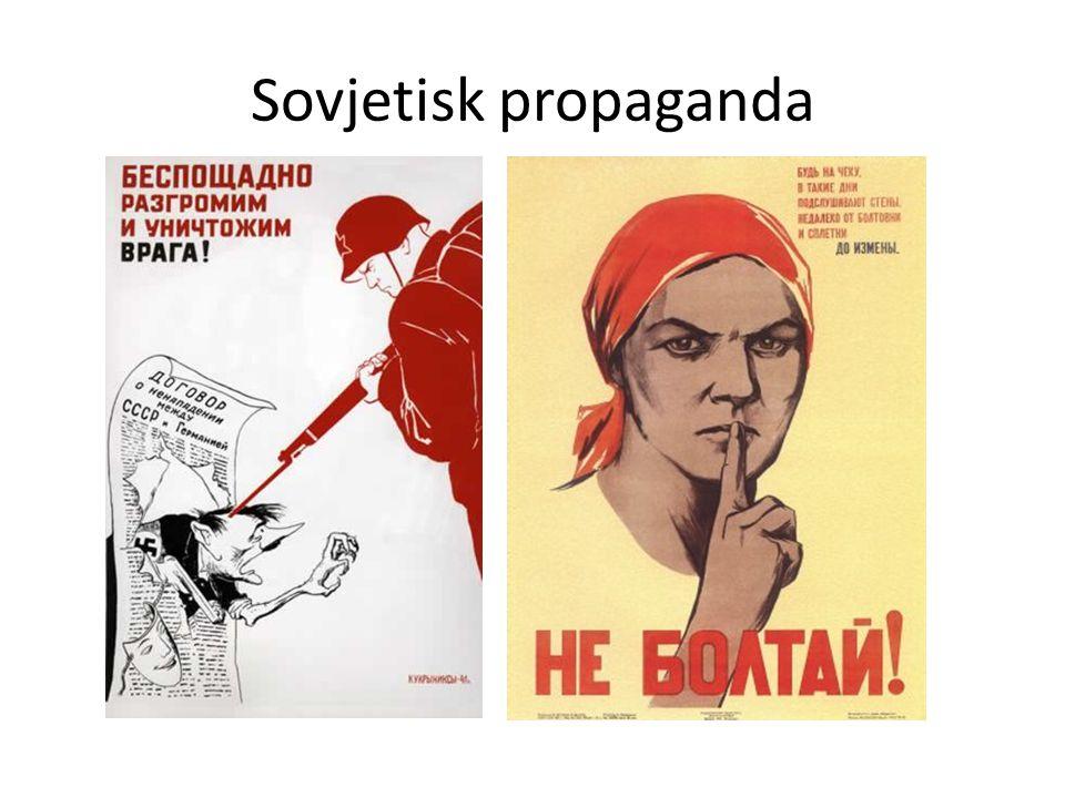 Sovjetisk propaganda Sovjetisk propaganda –Andra världskriget)