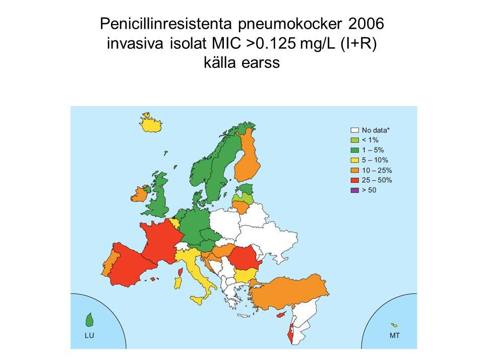 Penicillinresistenta pneumokocker 2006 invasiva isolat MIC >0