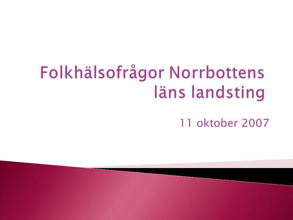 Folkhälsofrågor Norrbottens läns landsting