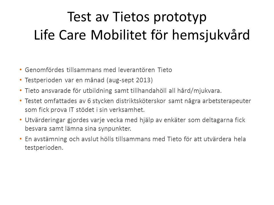 Test av Tietos prototyp Life Care Mobilitet för hemsjukvård