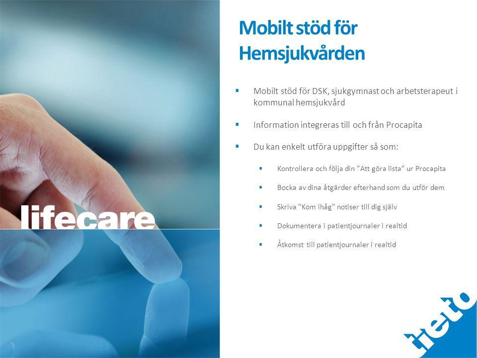 Mobilt stöd för Hemsjukvården