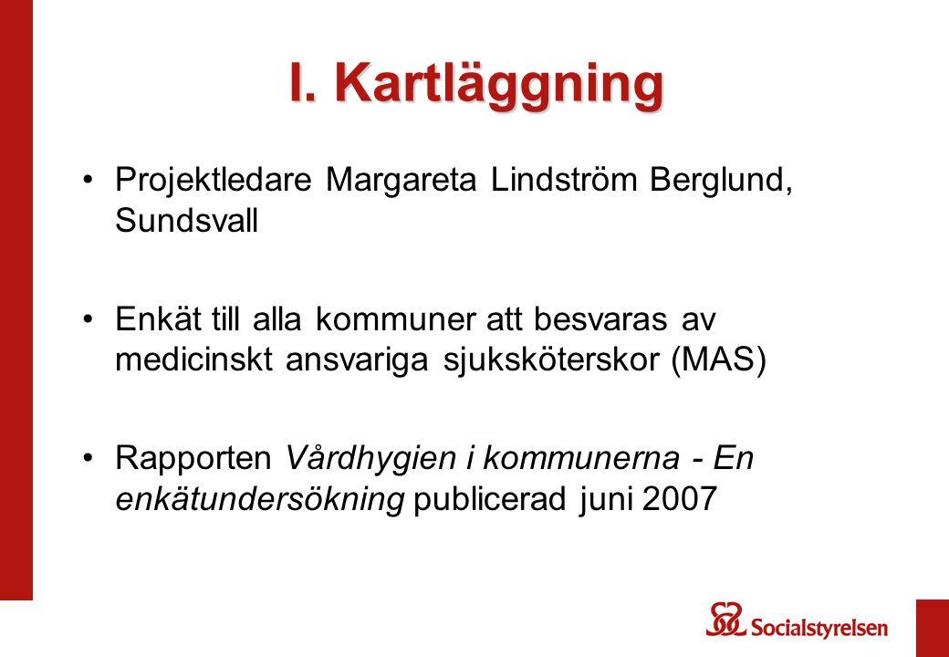 I. Kartläggning Projektledare Margareta Lindström Berglund, Sundsvall