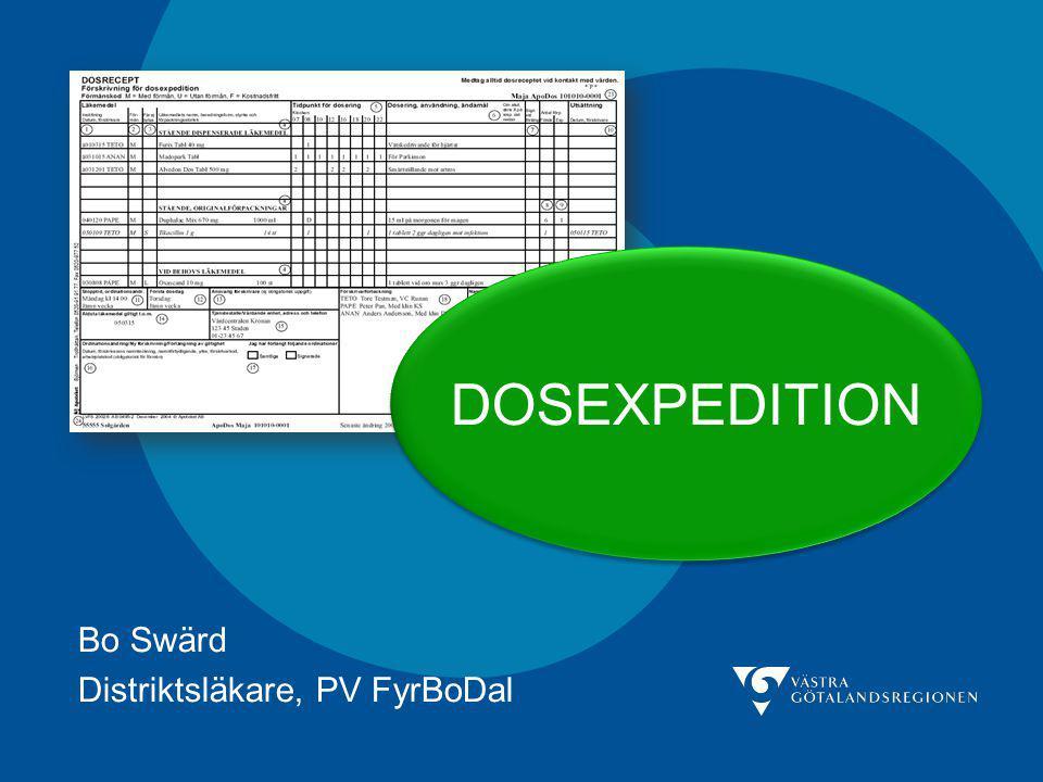 Bo Swärd Distriktsläkare, PV FyrBoDal