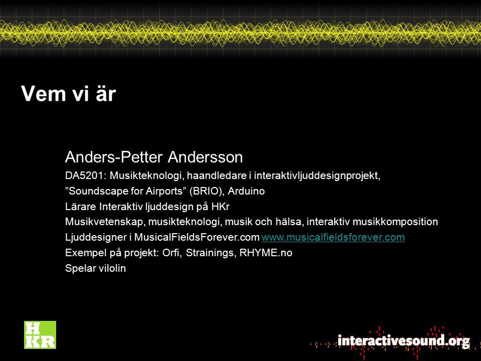 Vem vi är Anders-Petter Andersson