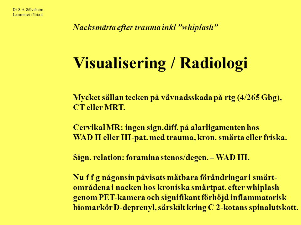 Visualisering / Radiologi