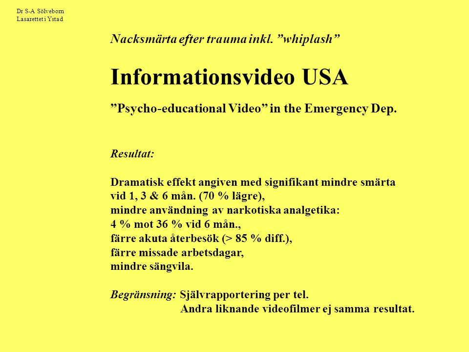 Psycho-educational Video in the Emergency Dep.