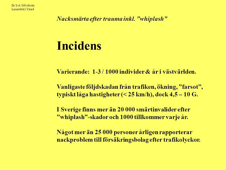 Varierande: 1-3 / 1000 individer & år i västvärlden.