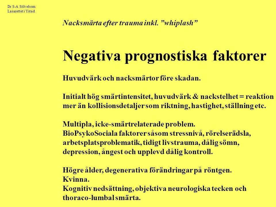 Negativa prognostiska faktorer