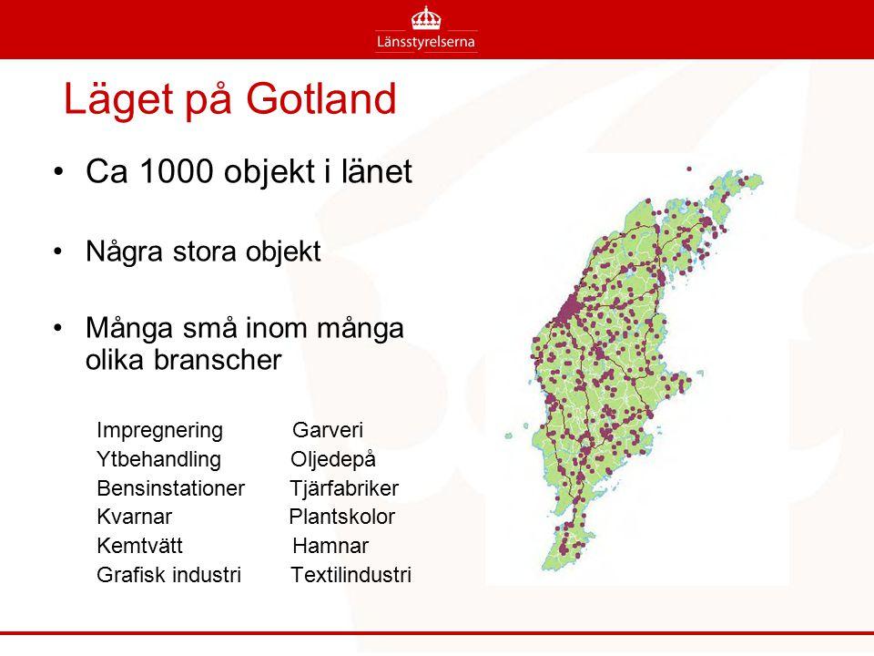 Läget på Gotland Ca 1000 objekt i länet Några stora objekt