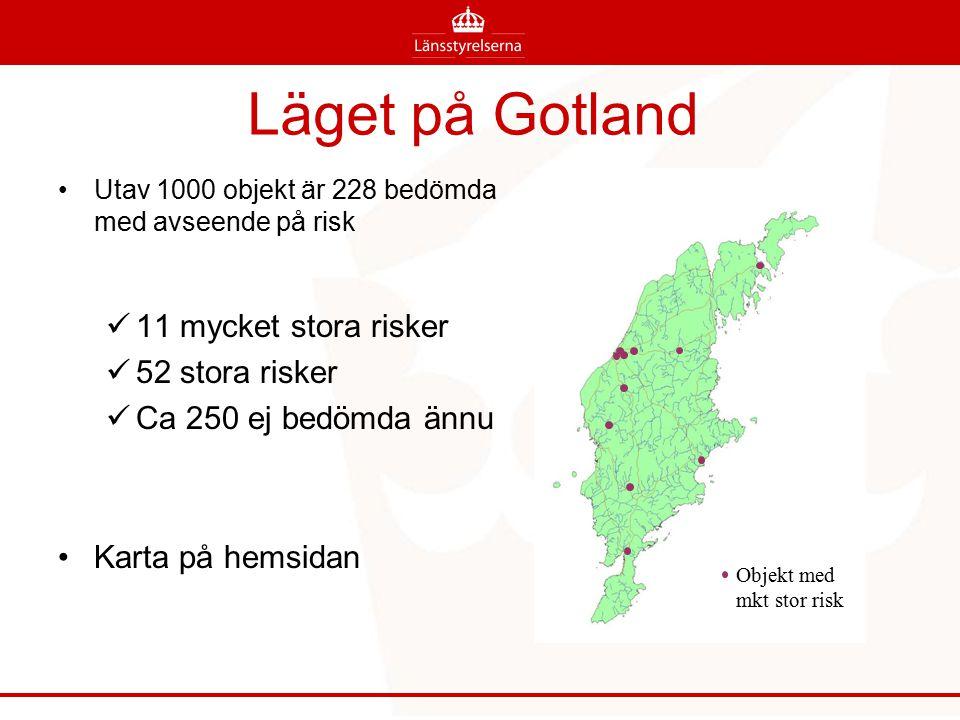 Läget på Gotland 11 mycket stora risker 52 stora risker