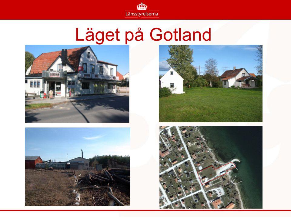 Läget på Gotland Bild 1. Förorening i stadsmiljö. Fd kemtvätt, idag videouthyrning. Ca ett ton perkloretylen ligger runt grunden.