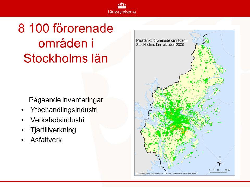 8 100 förorenade områden i Stockholms län