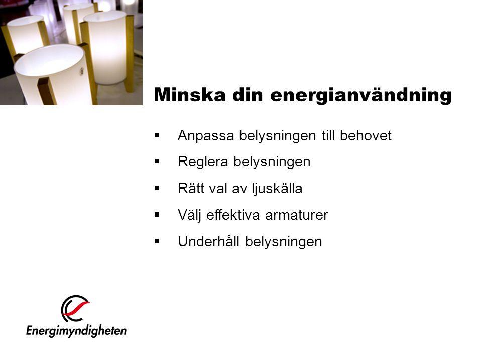Minska din energianvändning