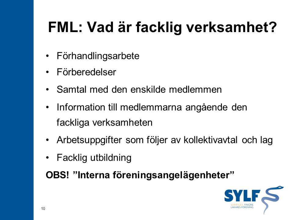 FML: Vad är facklig verksamhet