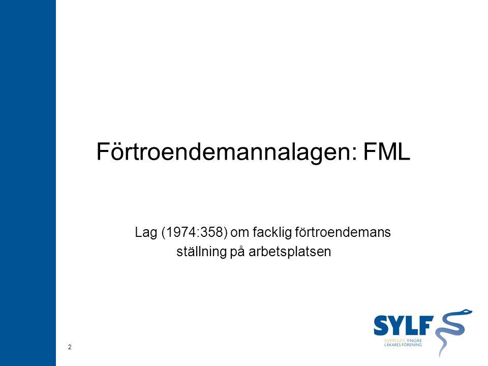 Förtroendemannalagen: FML Lag (1974:358) om facklig förtroendemans